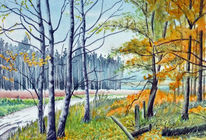 Laub, Baum, Wald, Herbst