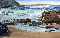 Welle, Gischt, Landschaft, Schaumstoff