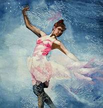 Tanz, Mädchen, Aquarellmalerei, Kleid