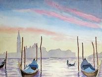 Wasser, Gondel, Morgenstimmung, Boot