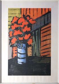 Impressionismus, Stillleben, Blumen, Dank