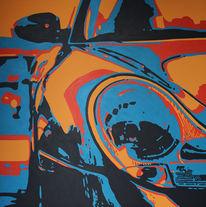 Acrylmalerei, Sportwagen, Expressionismus, Farben