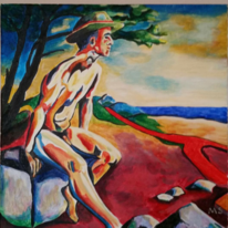Akt, Expressionismus, Acrylmalerei, Malerei