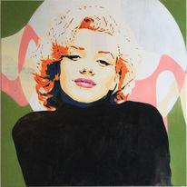 Malerei acryl, Pop, Sprühen, Menschen