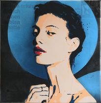 Malerei acryl, Sprühen, Menschen, Modern