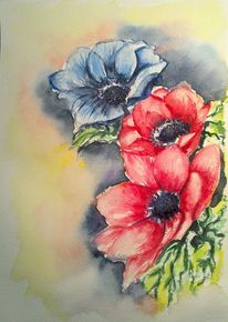 Blumen, Blumenstrauß, Blau, Pflanzen
