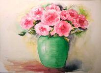 Blumenstrauß, Aquarellmalerei, Stillleben, Blumen