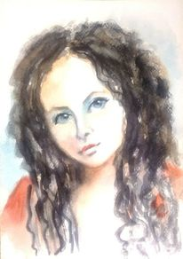 Aquarellmalerei, Portrait, Frauenportrait, Aquarell portrait