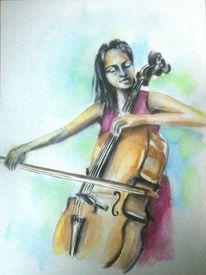 Schwarz, Grün, Talent, Cello
