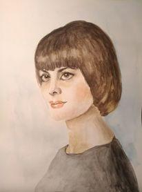 Frau, Sängerin, Frauenportrait, Mireille mathieu