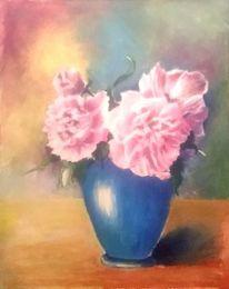 Vase, Rosa, Blumen, Stillleben