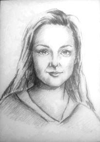 Frauenportrait, Schwarz, Schön, Frau