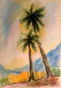 Zeichnungen landschaften, Landschaft, Tuschmalerei, Grün