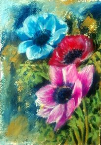 Rosa, Malerei pflanzen, Natur, Garten