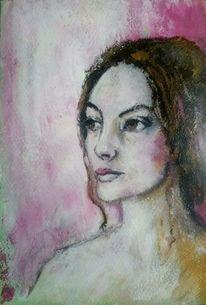 Schönheit, Rosa, Frauenportrait, Gesicht