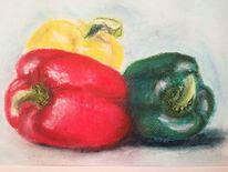 Paprika, Rot, Gelb, Grün