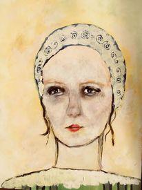 Portrait, Fräulein, Malerei