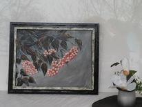 Xxl bild, Blumen, Acrylmalerei, Weiß