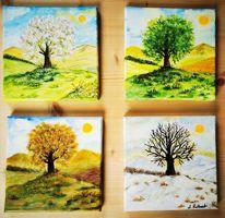 Farben, Landschaftsmalerei, Acrylpainting, Acrylmalerei