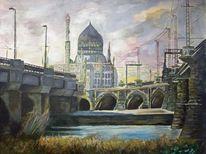 Yenice, Dresden, Aquarellmalerei, Aquarell