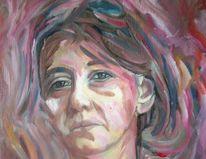 Frau, Malerei, Blick