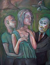 Malerei, Menschen, Disko