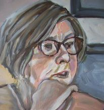 Schau, Acrylmalerei, Frau, Malerei