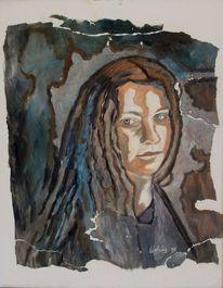 Dame, Zerissen, Malerei