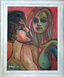 Malerei, Frau, Freundin