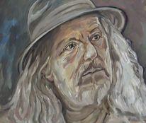Fälscher, Hut, Malerei,