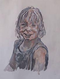 Acrylmalerei, Malerei, Mädchen