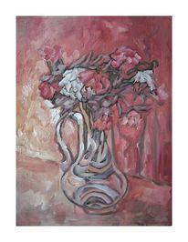 Vase, Blumen, Malerei