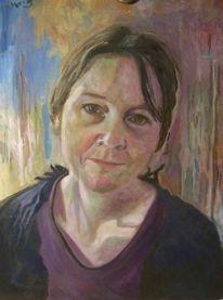 Malerei, Frau, Portrait,