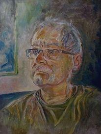 Malerei, Mann, Ölmalerei, Alt