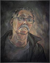 Portrait, Malerei, Mann