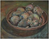 Malerei, Stillleben, Kartoffeln