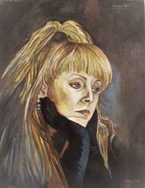 Malerei, Ölmalerei, Frau,