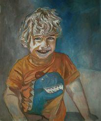 Blond, Frech, Junge, Malerei