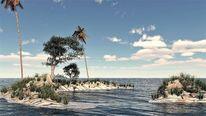 Natur, Küste, Baum, See