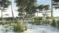 Baum, Natur, See, Digitale kunst