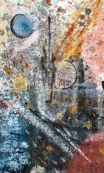 Acrylmalerei, Malerei, Abstrakt, Farben