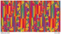 Farben, Neujahr, Konkrete kunst, Digitale kunst