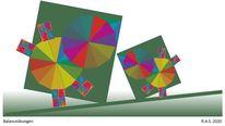 Farbkreis itten, Konkrete kunst, Stabilität, Digitale kunst