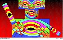 Bunt, Konkrete kunst, Maori, Digitale kunst