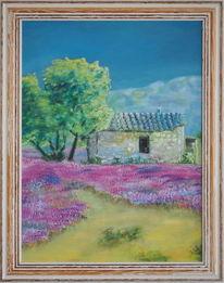 Ölmalerei, Umwelt, Landschaft, Südfrankreich
