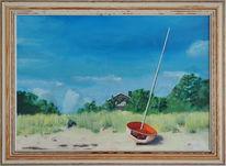 Entspannung, Boot, Ölmalerei, Umwelt