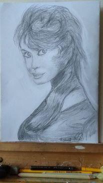 Gänseblümchen, Frau, Bardot, Zeichnungen