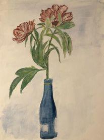 Blumen, Gouachemalerei, Malerei,
