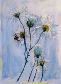 Spinne, Gouachemalerei, Blumen, Malerei