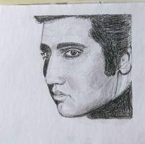 Elvis, Zeichnung, Bleistiftzeichnung, Zeichnungen